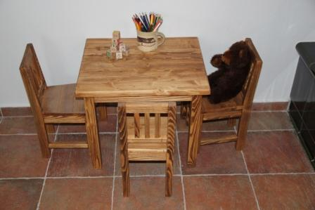 Table and chairs for children