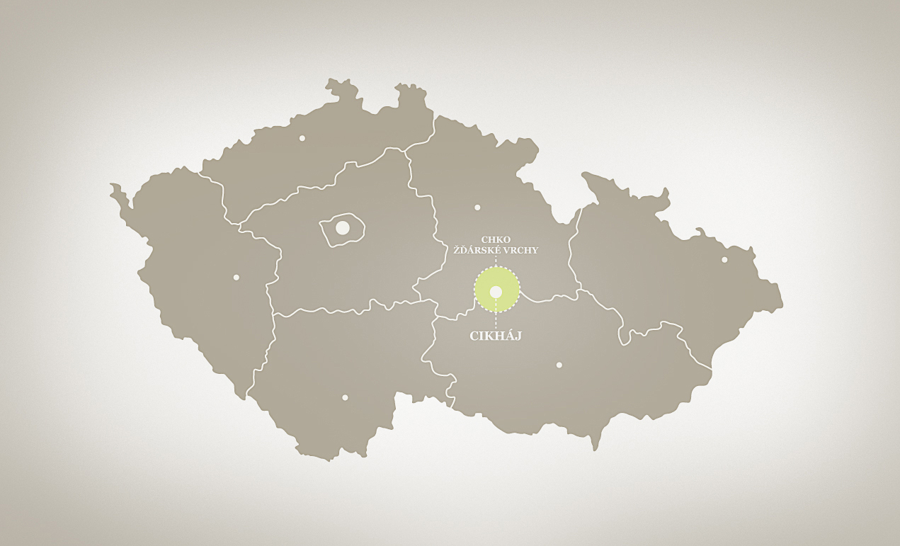 The Zdar Hills are located in the centre of our country